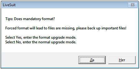 Окно форматирования данных