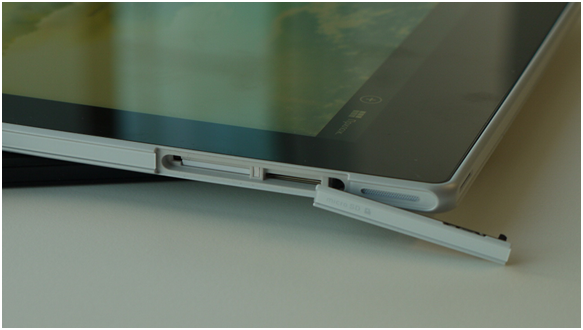 Заглушки на корпусе планшета