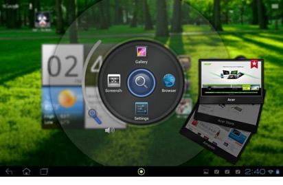 Интерфейс Acer Ring
