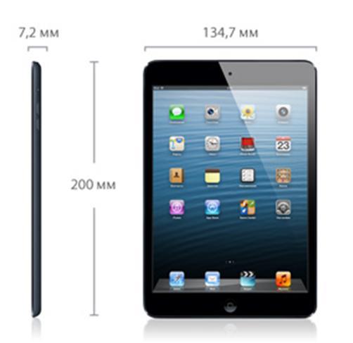 Длина, ширина и толщина планшета