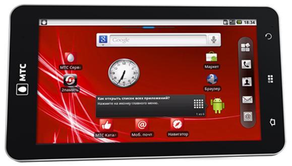 Экран планшета