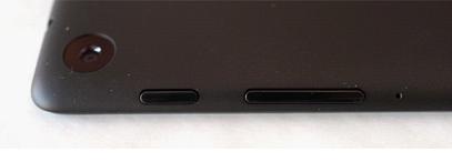 Элементы управления в верхней части планшета