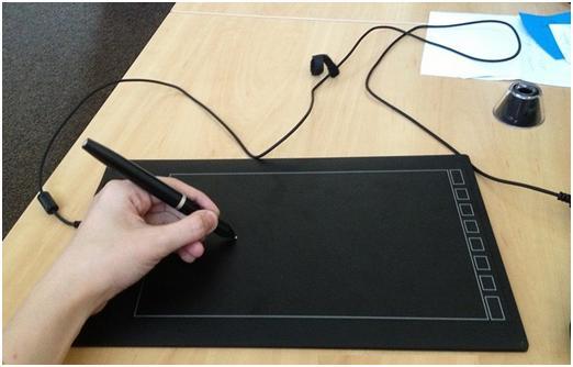 Рабочее состояние графического планшета