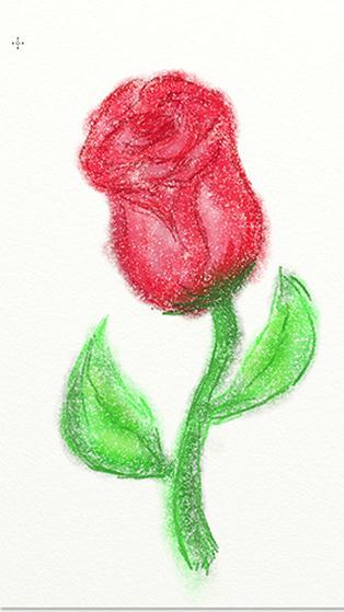 Роза, нарисованная посредством устройства