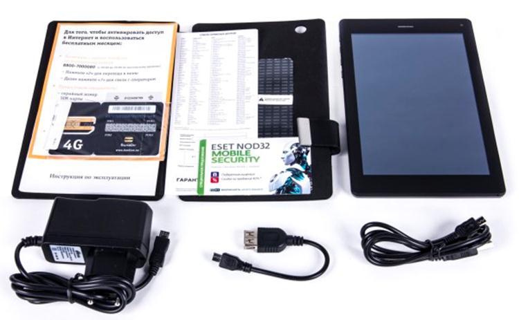 Документация, кабель, зарядка, планшет