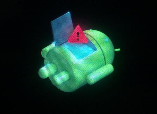 изображение андроида с восклицательным знаком