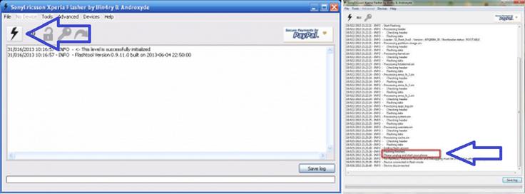 Программа FlashTool