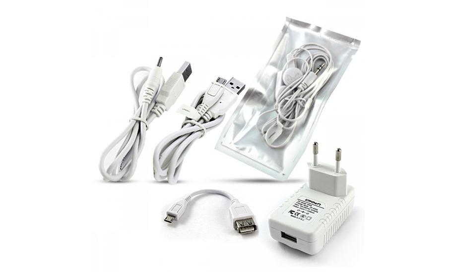 Зарядка, кабель, минигарнитура