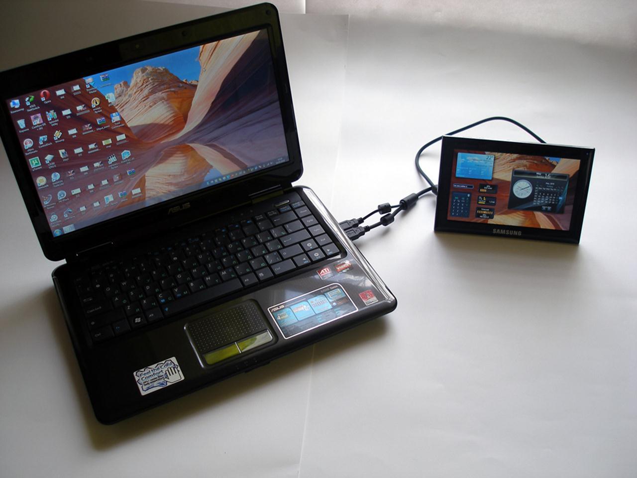 Подключение планшета к нетбуку