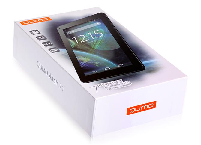 Упаковка планшета QUMO